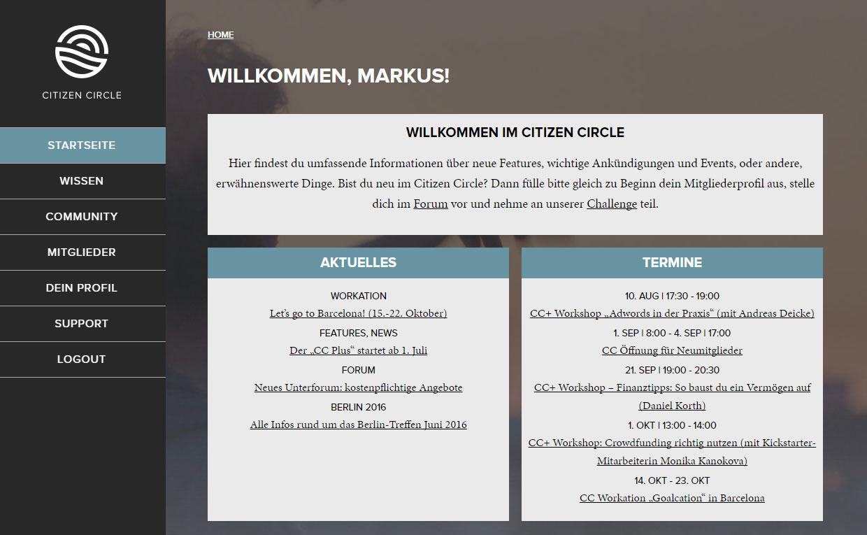 CitizenCircle Screenshot