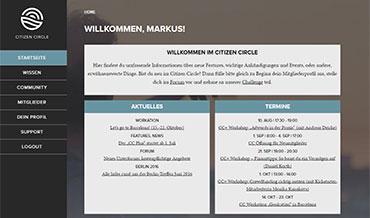 Screenshot Memberbereich