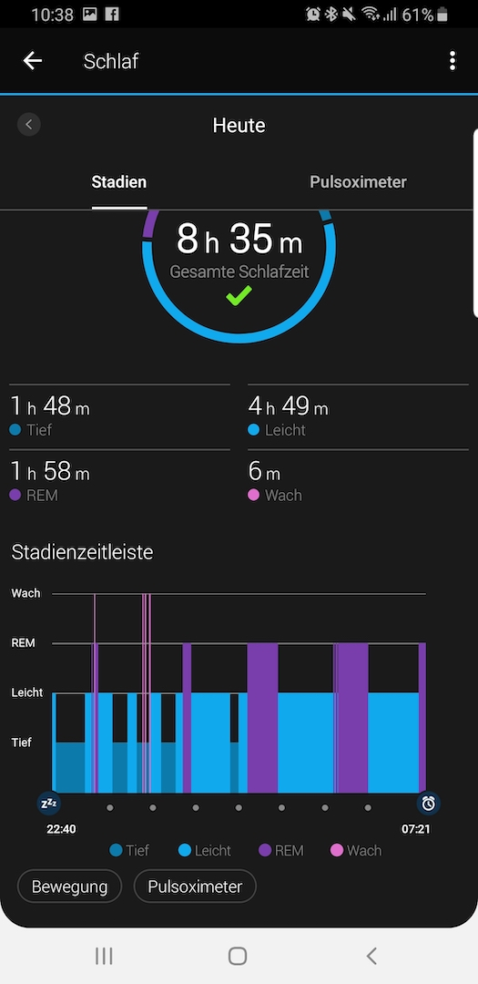 Screenshot Garmin Tracking